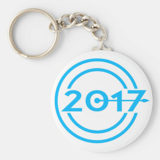 2017 Blue Date Clock Key Ring