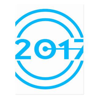 2017 Blue Date Clock Postcard