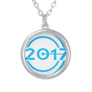 2017 Blue Date Clock Silver Plated Necklace