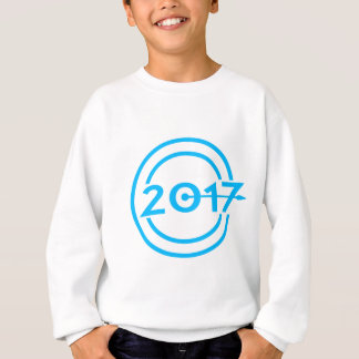2017 Blue Date Clock Sweatshirt
