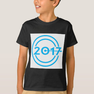 2017 Blue Date Clock T-Shirt