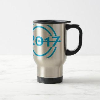 2017 Blue Date Clock Travel Mug