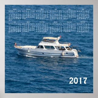 2017 boat calendar poster