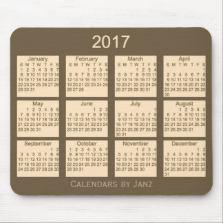 2017 Brown Calendar by Janz Mouse Pad
