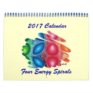 2017 Calendar Art Four Energy Spirals Two Page