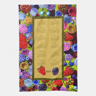2017 Calendar Berries border Kitchen Tea Towel