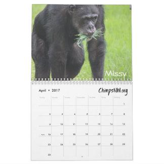2017 Calendar for Chimpanzee Sanctuary Northwest