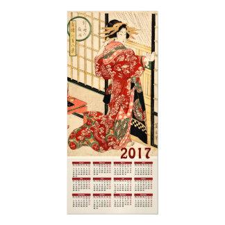 2017 Calendar Vintage Japanese Print Magnetic Invitations