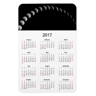 2017 Calendar with Moon Phases Photo Magnet
