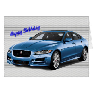 2017 Car image for Birthday greeting card