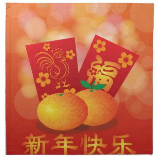 2017 Chinese New Year Rooster Red Packet Napkin