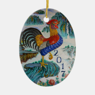 2017 Chinese Year of the Rooster, Optional Photo Ceramic Ornament