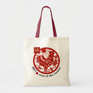 2017 Chinese Year of the Rooster Tote Bags
