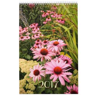 2017 Custom Caleendar with beautiful flowers Wall Calendar