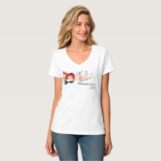 2017 DF Celebration  - Ladies V neck Tee