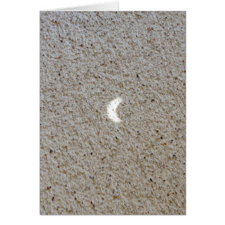 2017 Eclipse Projection on Concrete Greeting Card