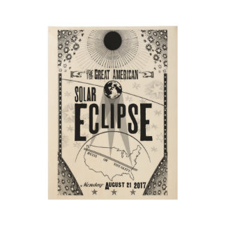 2017 Eclipse Showprint-Style Wood Poster