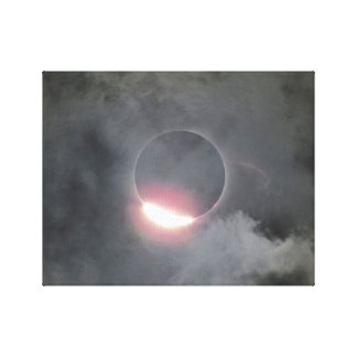 2017 Eclipse With Diamond Ring Canvas Print