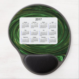 2017 Emerald Smoke 52 Weeks Calendar by Janz Gel Mouse Pad