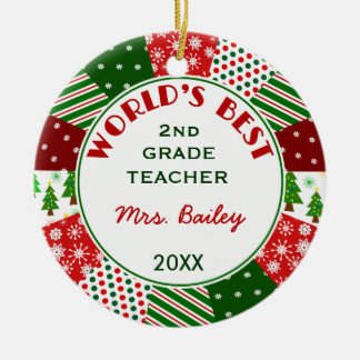 2017 For Favorite Teacher Christmas gift Ceramic Ornament