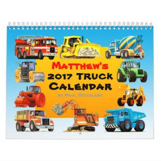 2017 Giant Construction Truck Calendar