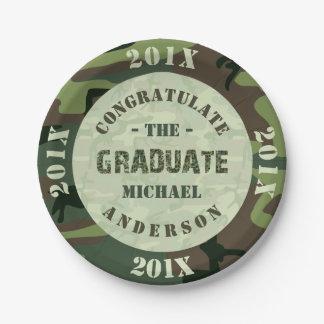2017 Graduation Party Camouflage Custom Camo Paper Plate