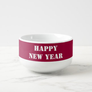 2017 HAPPY NEW YEAR editable text Template diy Soup Mug