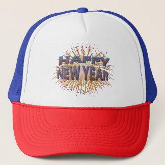 2017 Happy New Year Unique Blue Fireworks Hat Cap