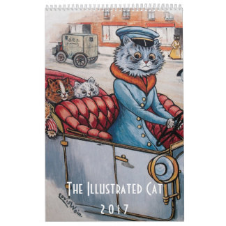 2017 Illustrated Cats Calendar - Louis Wain