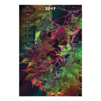 2017 Japanese Maple Calendar Poster Photo Print
