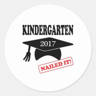 2017 Kindergarten Nailed It Classic Round Sticker