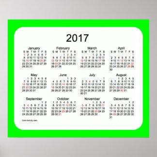 2017 Lime Wall Calendar by Janz Print