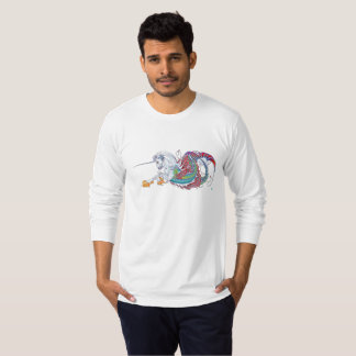 2017 Mink Mode Hippicorn Mens Long Sleeve Tee