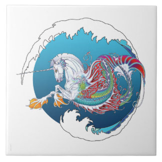 """2017 Mink Nest Hippicorn 6"""" Tile Ocean"""