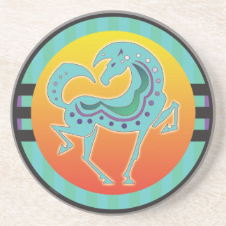 2017 Mink Nest Runequine Checkers Stone Coaster 1