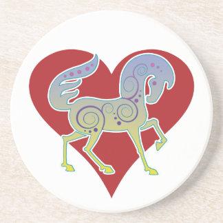 2017 Mink Nest Runequine Heart Coaster 1
