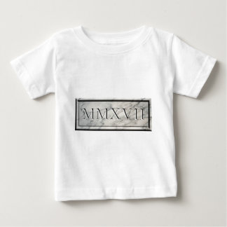 2017 MMXVII Marble Baby T-Shirt