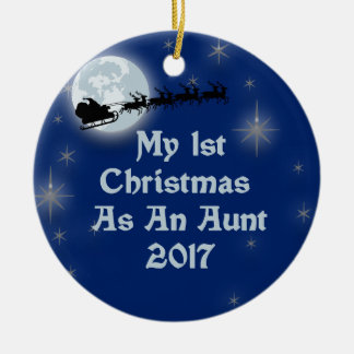 2017 My 1st Christmas As An Aunt Ceramic Ornament