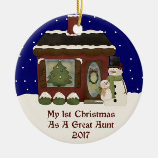2017 My 1st Christmas As Great Aunt Ceramic Ornament
