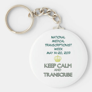 2017 National MT Week Keep Calm Basic Round Button Key Ring