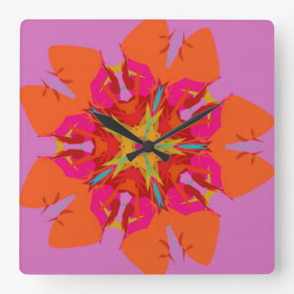 2017 new Square Wall Clock flower