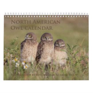 2017 North American Owl Wall Calendar