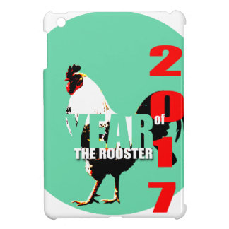 2017 Rooster Year in Green Circle Ipad case