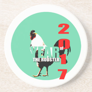 2017 Rooster Year in Green Circle R coaster