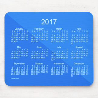2017 Royal Blue Angle Art Calendar by Janz Mouse Pad