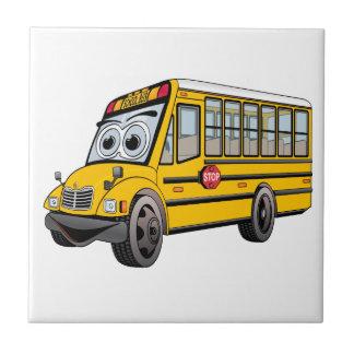 2017 School Bus Cartoon Ceramic Tile