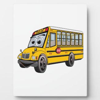 2017 School Bus Cartoon Photo Plaque