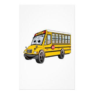 2017 School Bus Cartoon Stationery