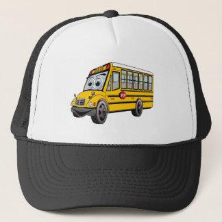 2017 School Bus Cartoon Trucker Hat