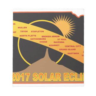 2017 Solar Eclipse Across Nebraska Cities Map Notepad